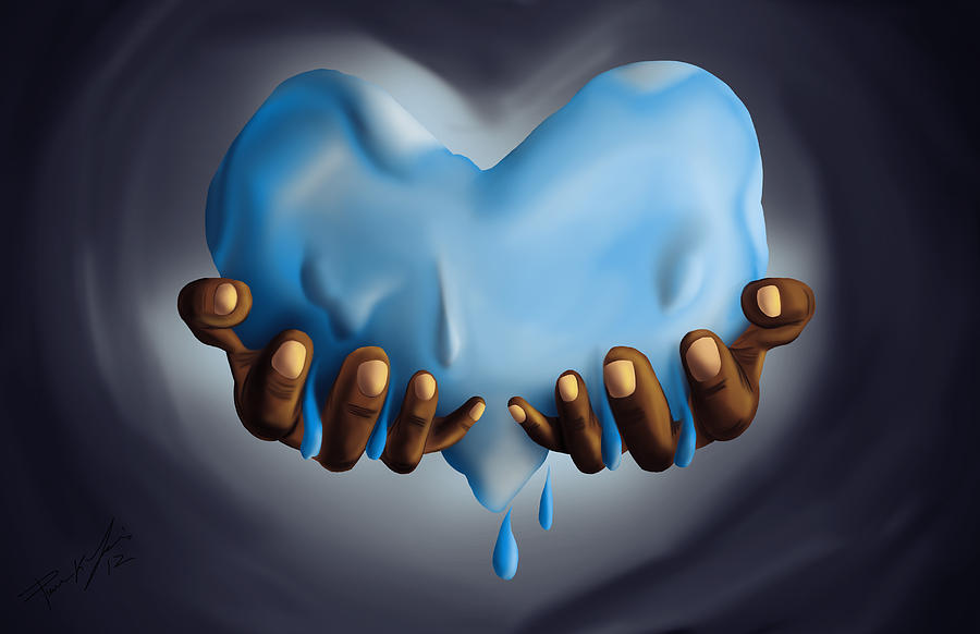 Heart Of Water Painting  - Heart Of Water Fine Art Print
