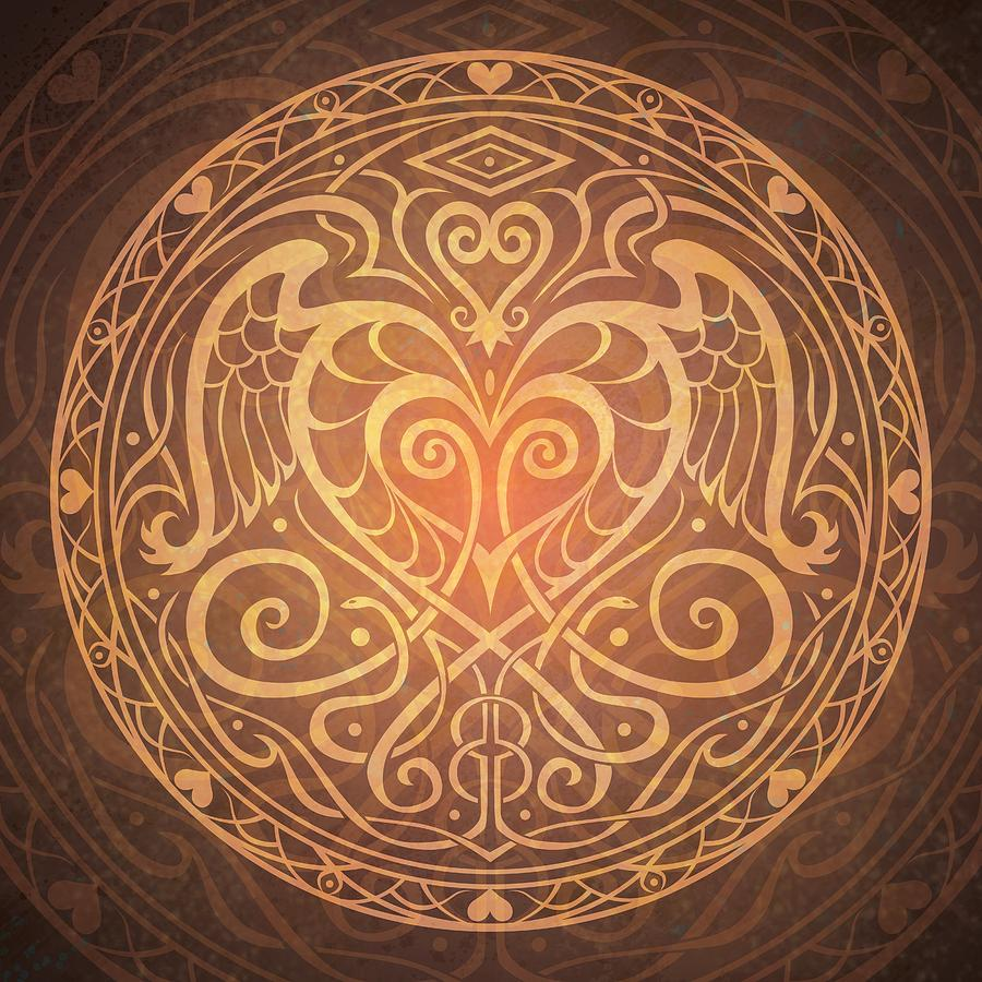 Heart Of Wisdom Mandala Digital Art  - Heart Of Wisdom Mandala Fine Art Print