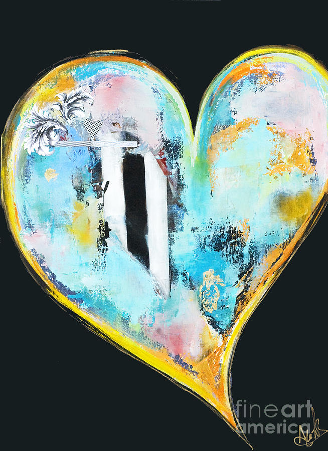Heart Series - 2 Mixed Media  - Heart Series - 2 Fine Art Print