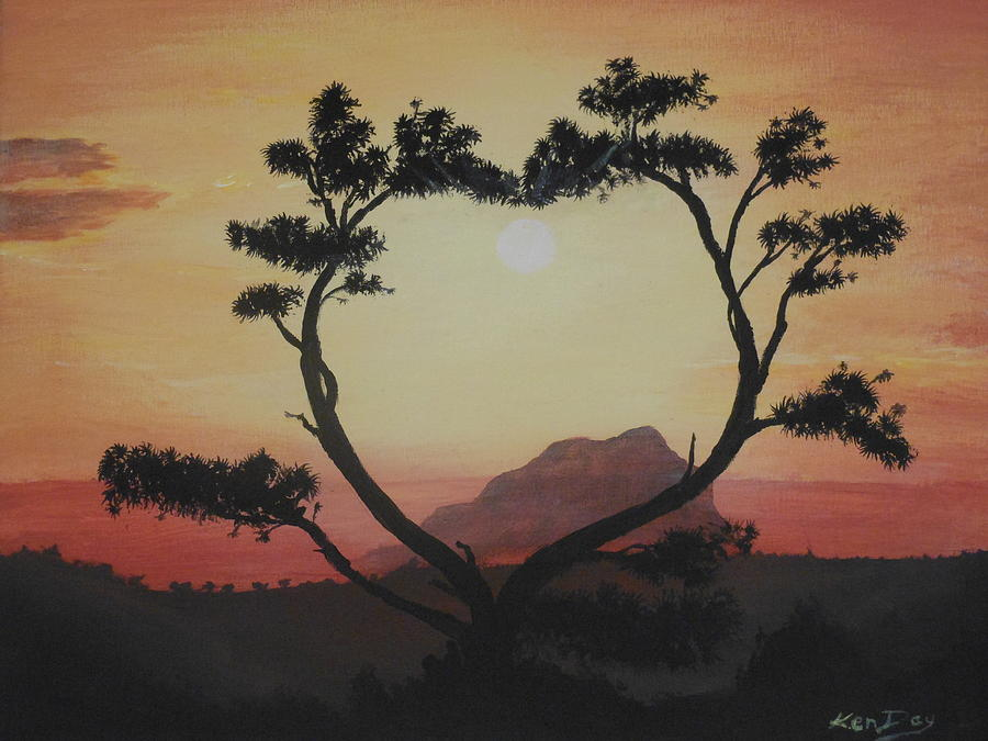 Heart Tree Painting  - Heart Tree Fine Art Print