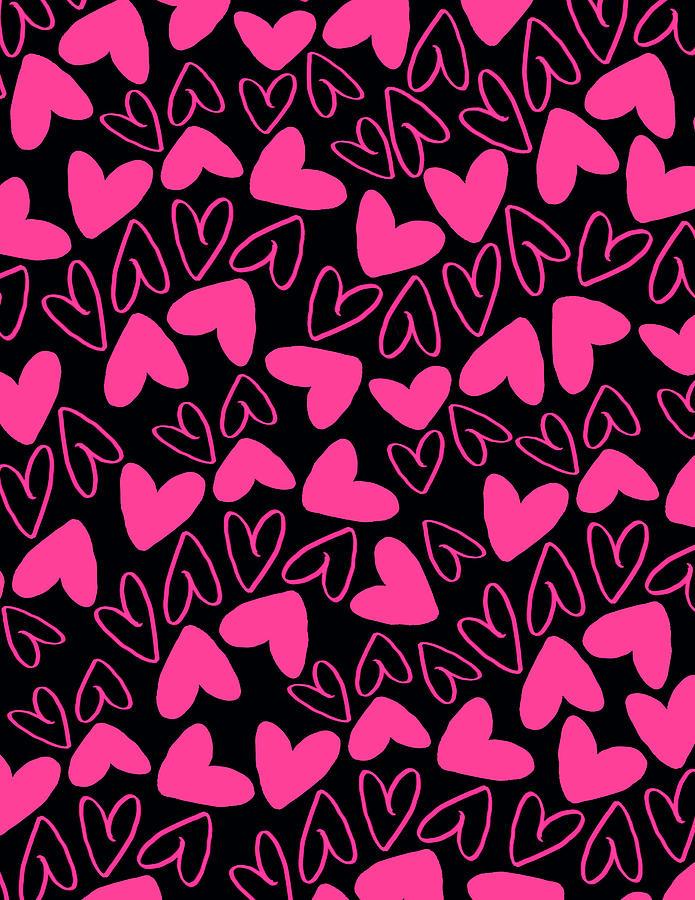 Heart Digital Art - Hearts by Louisa Knight