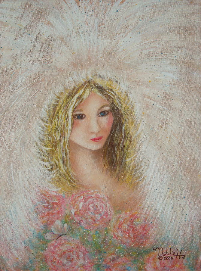 Heavenly Angel Painting  - Heavenly Angel Fine Art Print