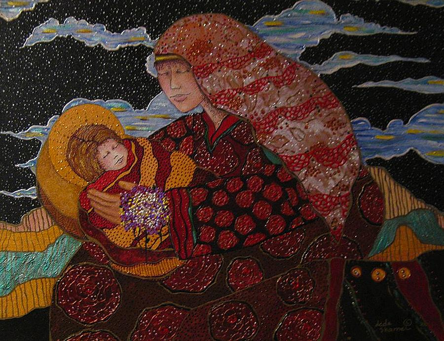 Heavenly Mother And Child Painting