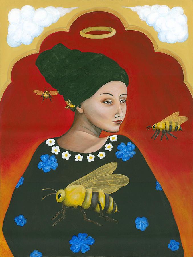 Heavenly Mother Of The Honeybee Painting