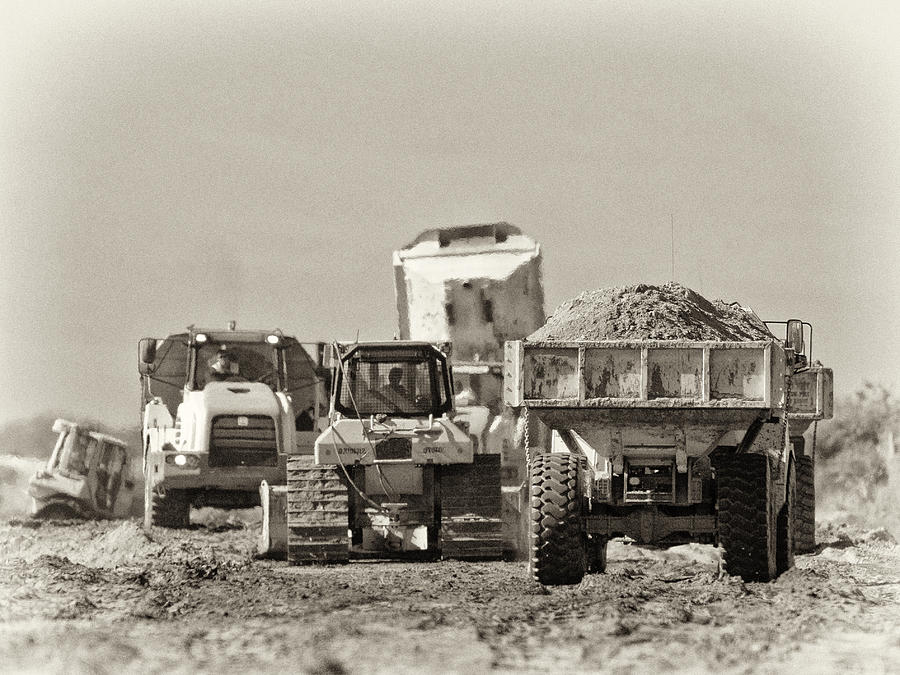Heavy Equipment Meeting Photograph  - Heavy Equipment Meeting Fine Art Print