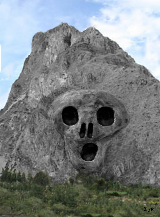Heavy Rock Scream Sculpture  - Heavy Rock Scream Fine Art Print
