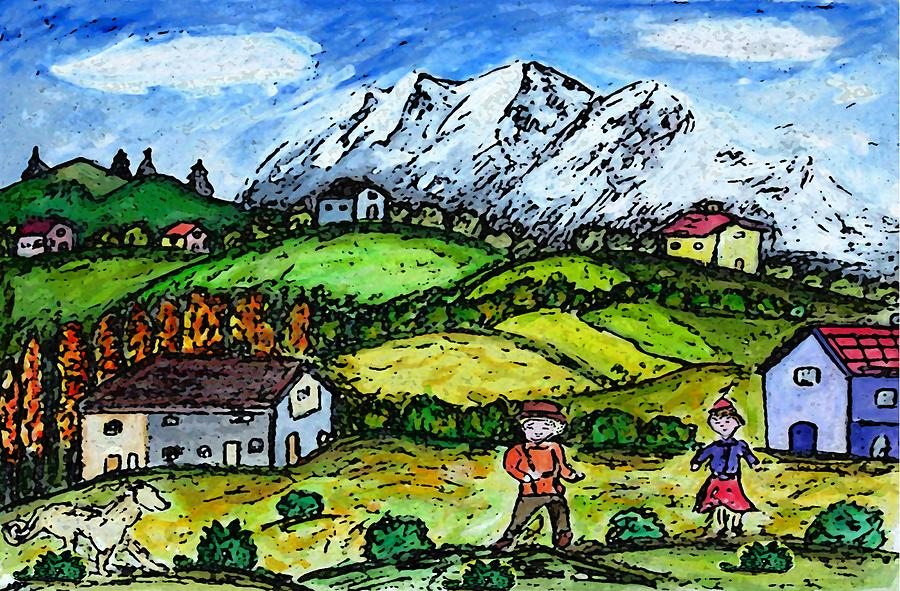 Heidi Country Painting