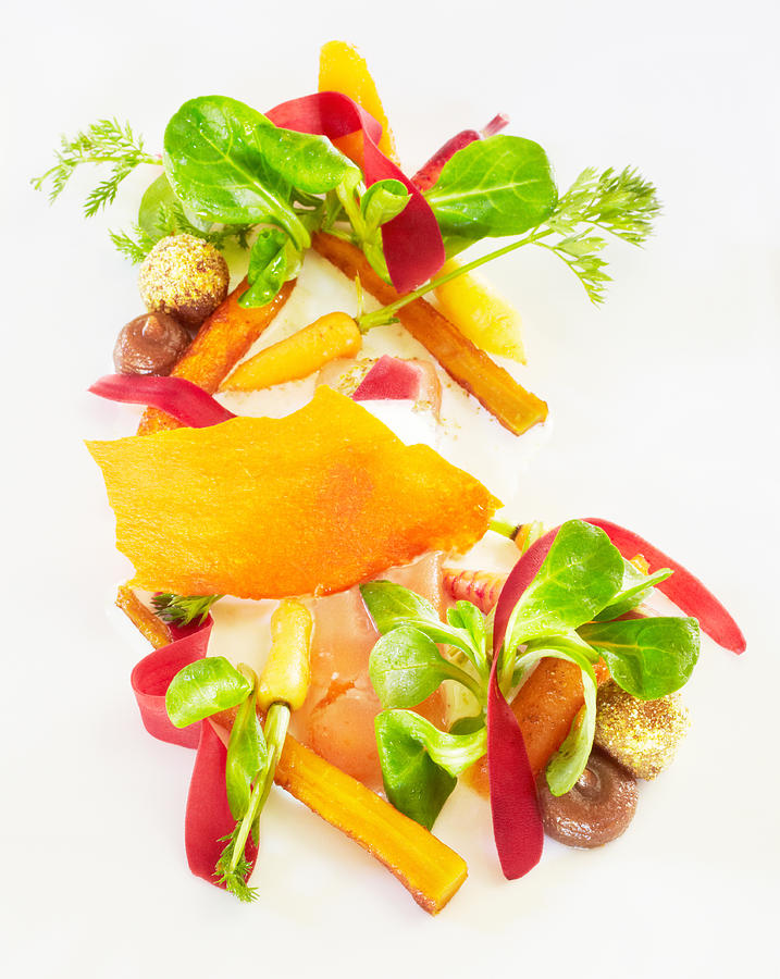 Heirloom Carrot Salad With Garam Masala And Lime Photograph