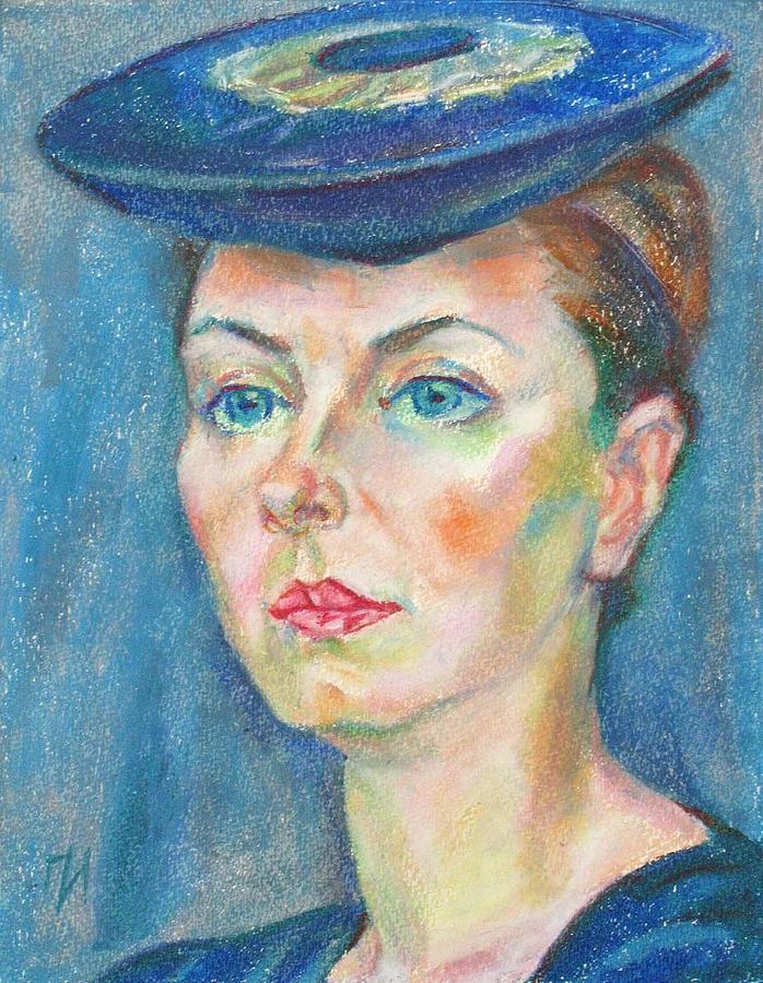 Paper Painting - Helene Tedre by Leonid Petrushin