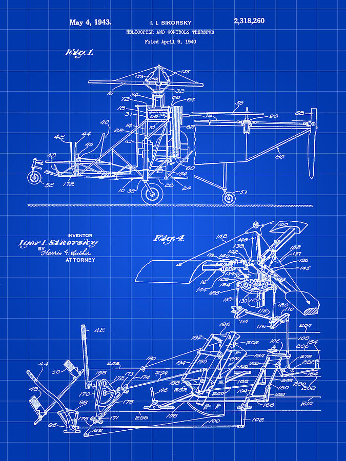 Helicopter Patent Digital Art