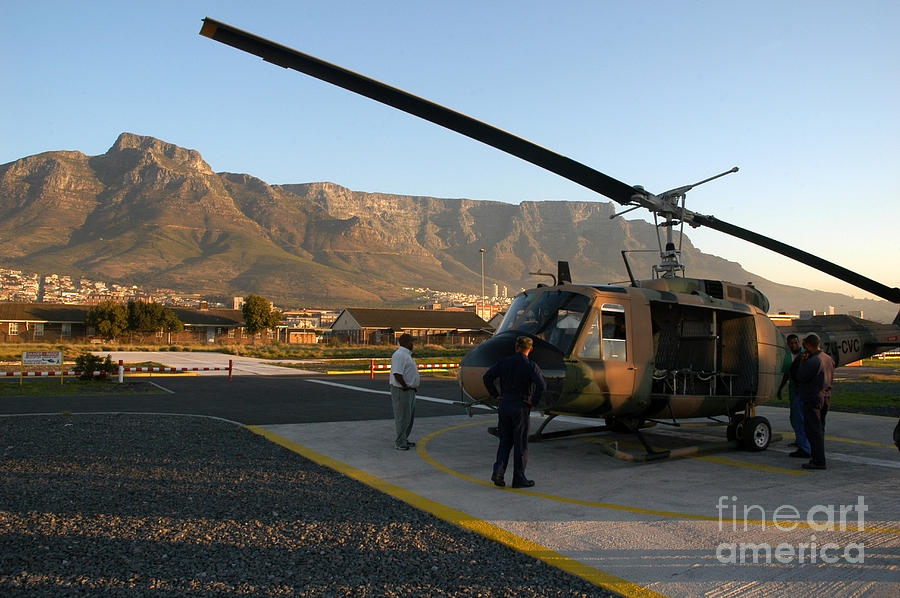 Helicopter Tours Of Cape Town And Table Mountain Photograph  - Helicopter Tours Of Cape Town And Table Mountain Fine Art Print
