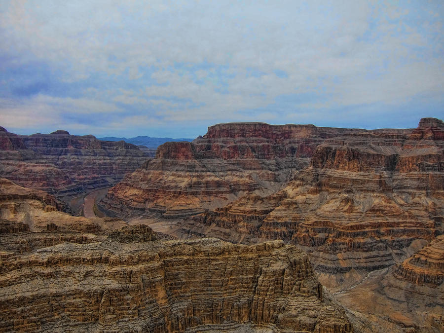 Descending Photograph - Helicopter View Of The Grand Canyon by Douglas Barnard