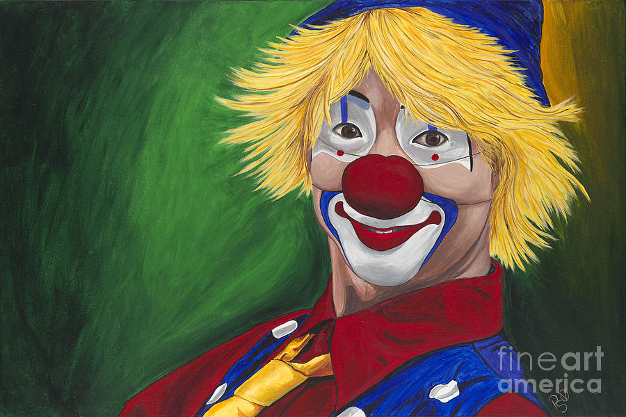 Hello Clown Painting  - Hello Clown Fine Art Print