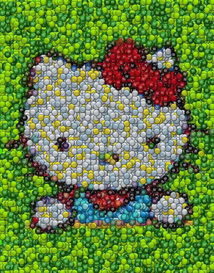 Hello Kitty Mm Candy Mosaic Digital Art  - Hello Kitty Mm Candy Mosaic Fine Art Print