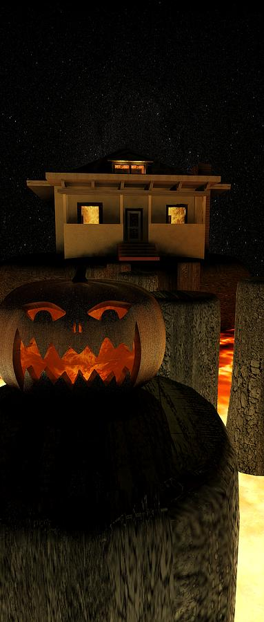 Helloween Digital Art  - Helloween Fine Art Print