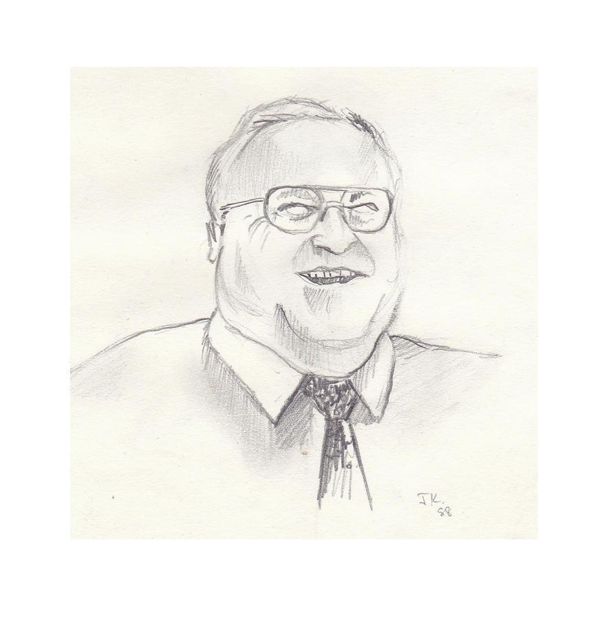 Helmut Kohl Drawing