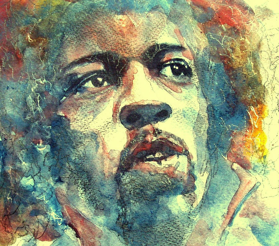 Hendrix No5 Painting  - Hendrix No5 Fine Art Print