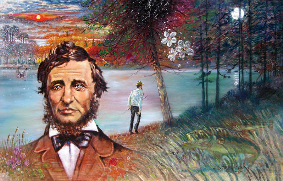 Henry David Thoreau Painting  - Henry David Thoreau Fine Art Print