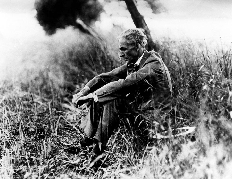 Contemplative Photograph - Henry Ford, 1863-1947 by Everett