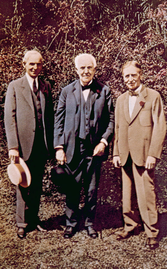 Henry Ford, Thomas Alva Edison, Harvey Photograph  - Henry Ford, Thomas Alva Edison, Harvey Fine Art Print