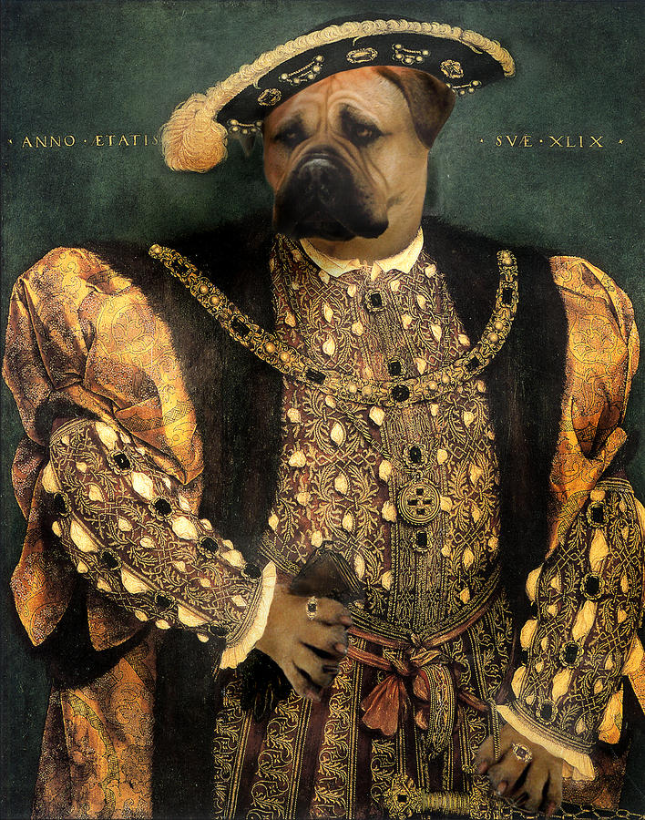 Henry Viii As A Mastiff Digital Art