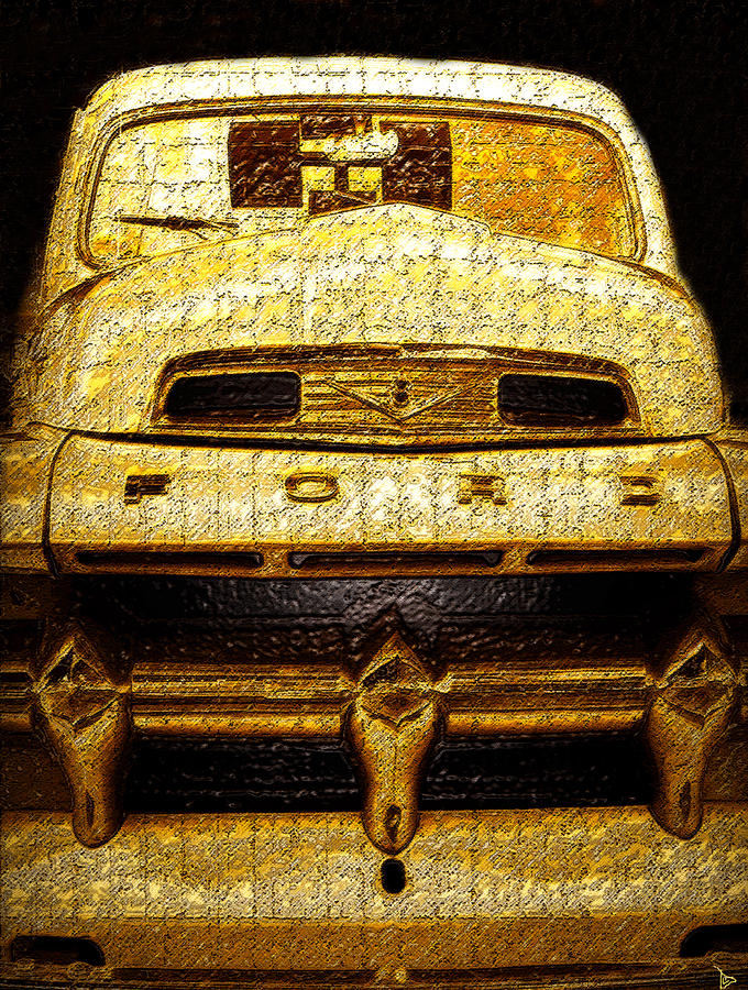 Art Painting - Henrys Ford Truck by David Lee Thompson