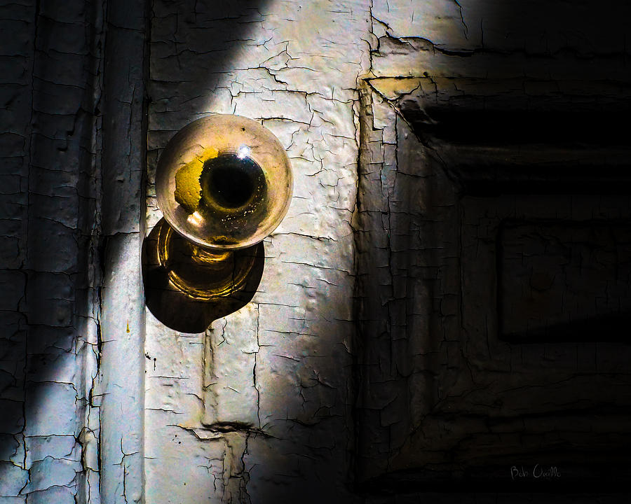 Her Glass Doorknob Photograph