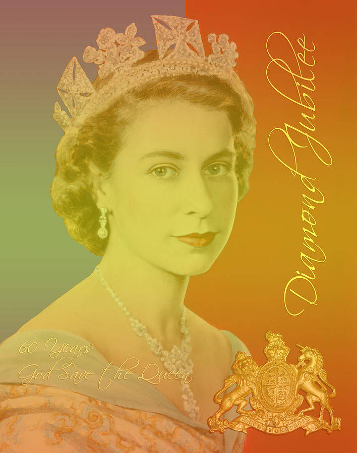 Her Royal Highness Queen Elizabeth II Digital Art