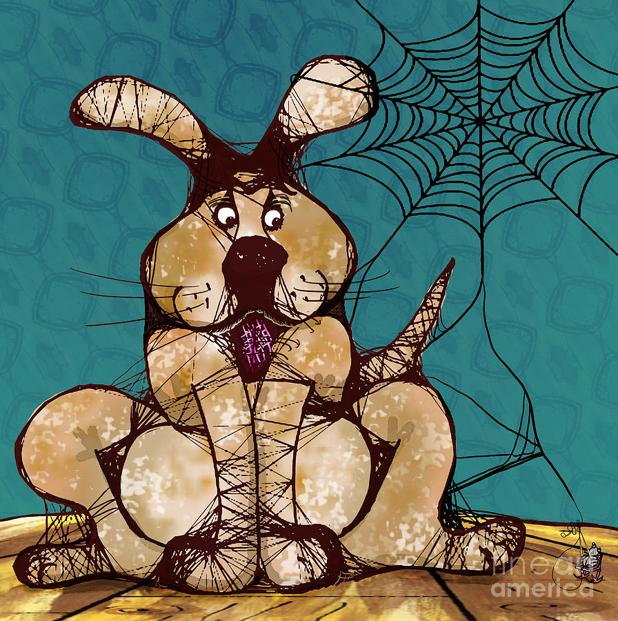 Dog Digital Art - Her Woven Web by Laura Brightwood
