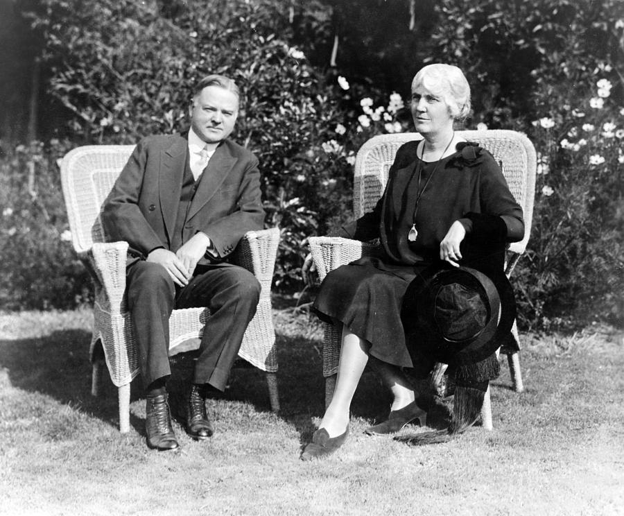Herbert Hoover Seated With His Wife Photograph