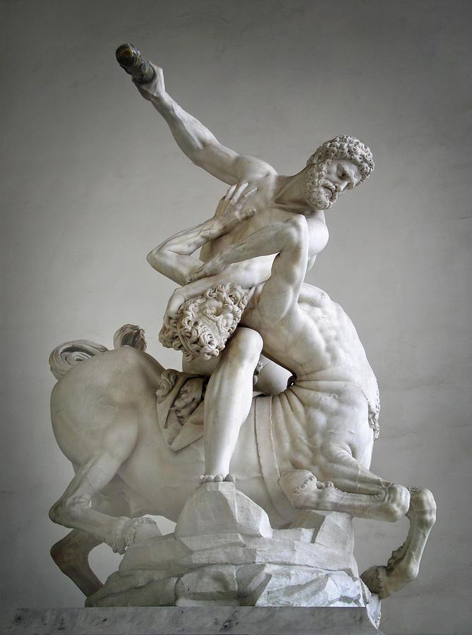 Hercules And Centaur Sculpture Photograph