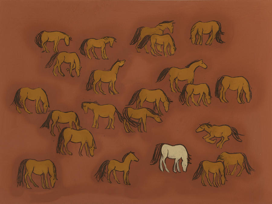 Herd 1 Painting  - Herd 1 Fine Art Print