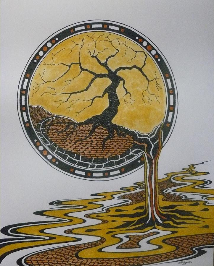 Here Stood My Dreaming Tree Drawing