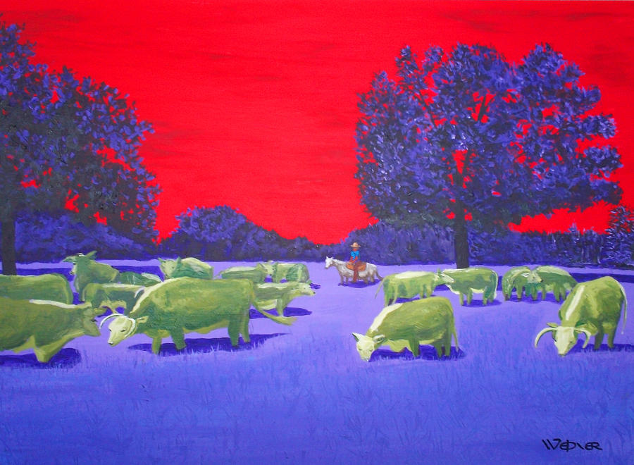 Hereford Herd Painting  - Hereford Herd Fine Art Print