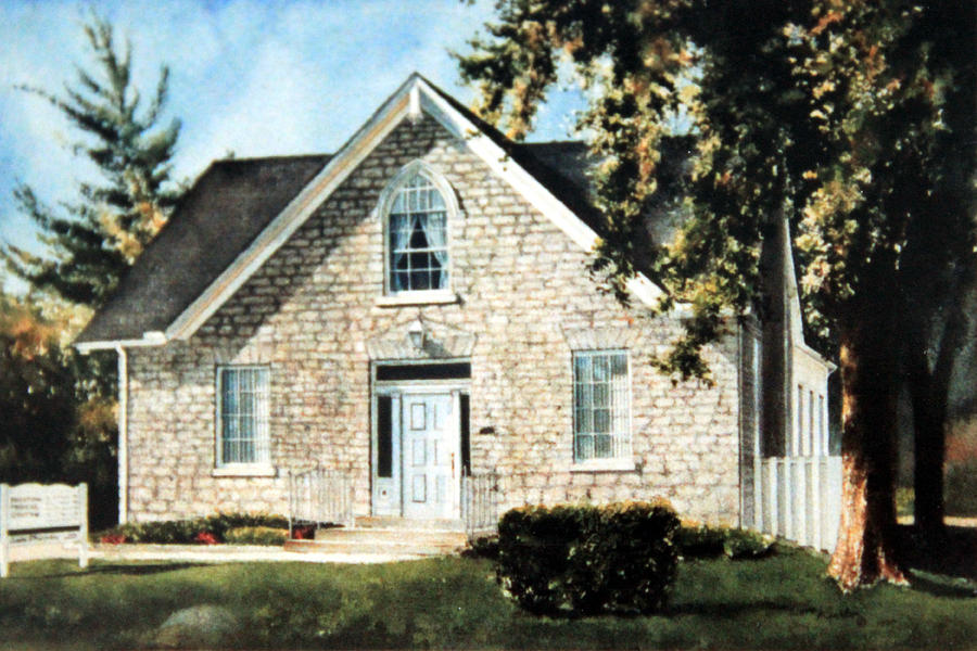 House Portrait From Photograph By Hanne Lore Koehler Painting - Heritage Home Portrait by Hanne Lore Koehler