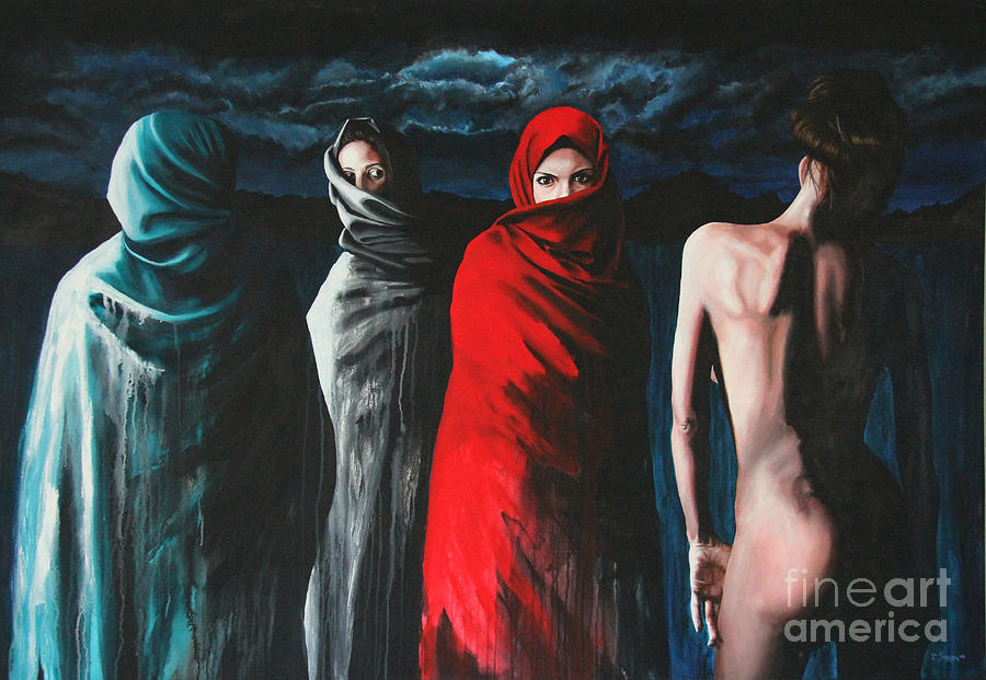 Hermanas II Painting  - Hermanas II Fine Art Print