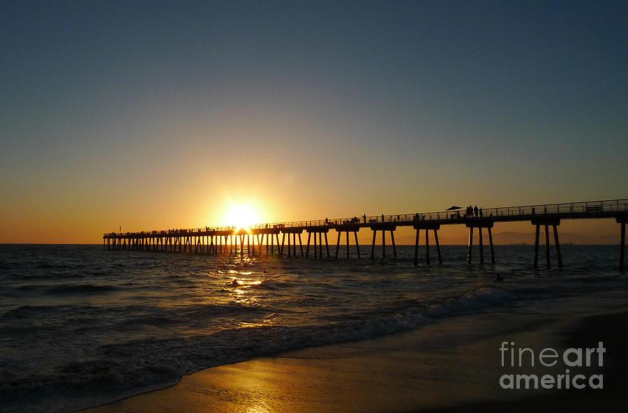 Hermosa Beach Sunset Photograph - Hermosa Beach Sunset by Nina Prommer