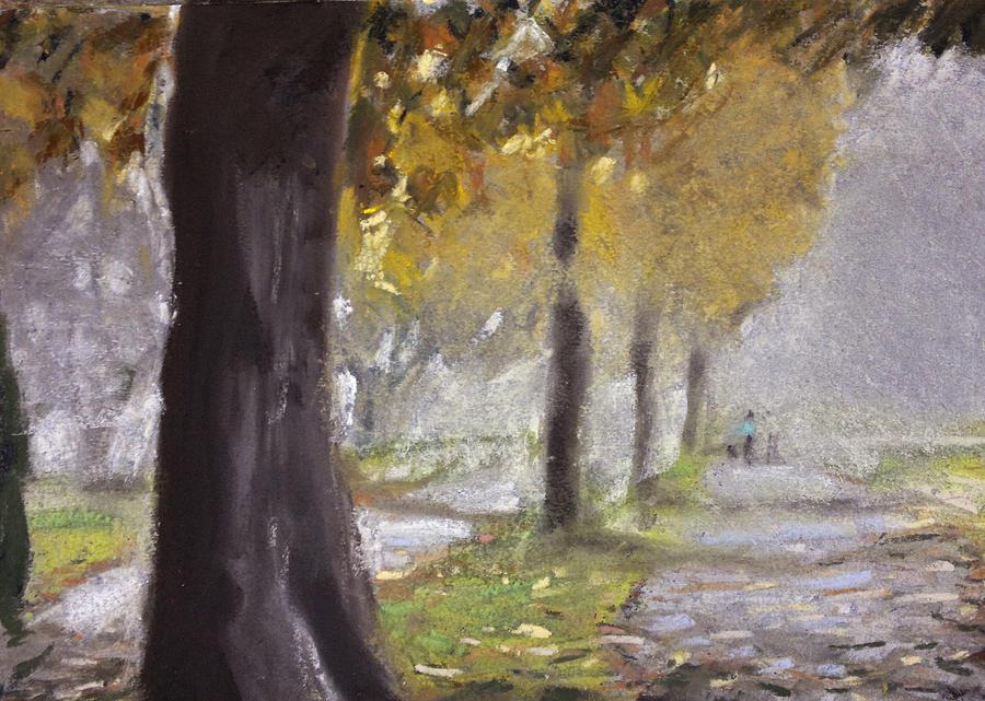 Herne Bay Park Fog 1 Pastel