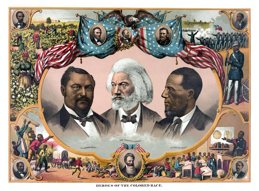 Heroes Of The Colored Race  Painting  - Heroes Of The Colored Race  Fine Art Print