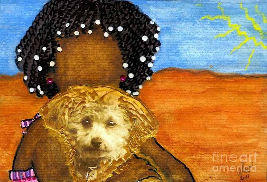 Greeting Cards Mixed Media - Hes My Very Best Friend by Angela L Walker
