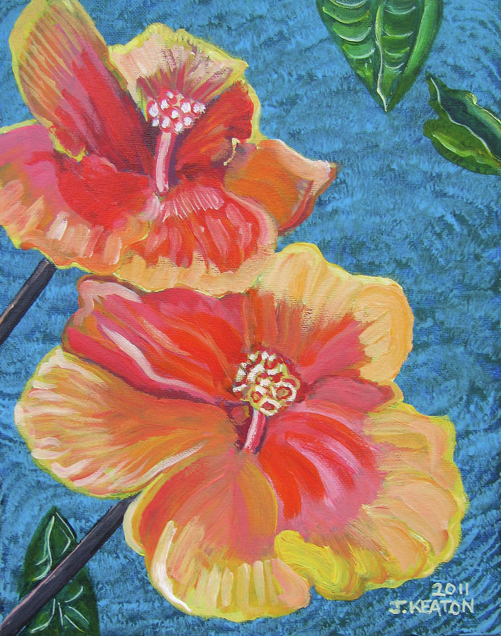 Hibiscus Flowers Painting