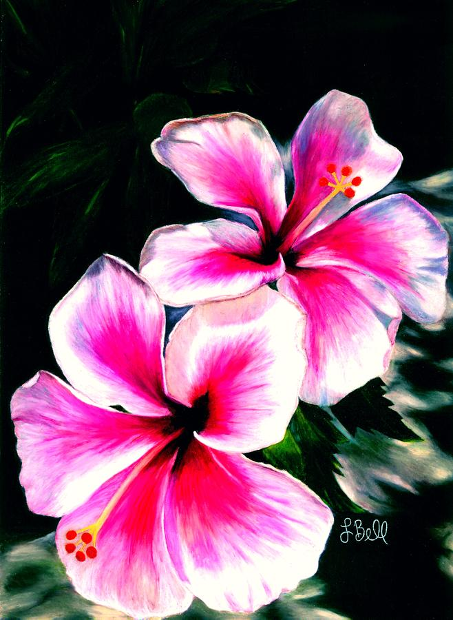 Hibiscuses Painting  - Hibiscuses Fine Art Print