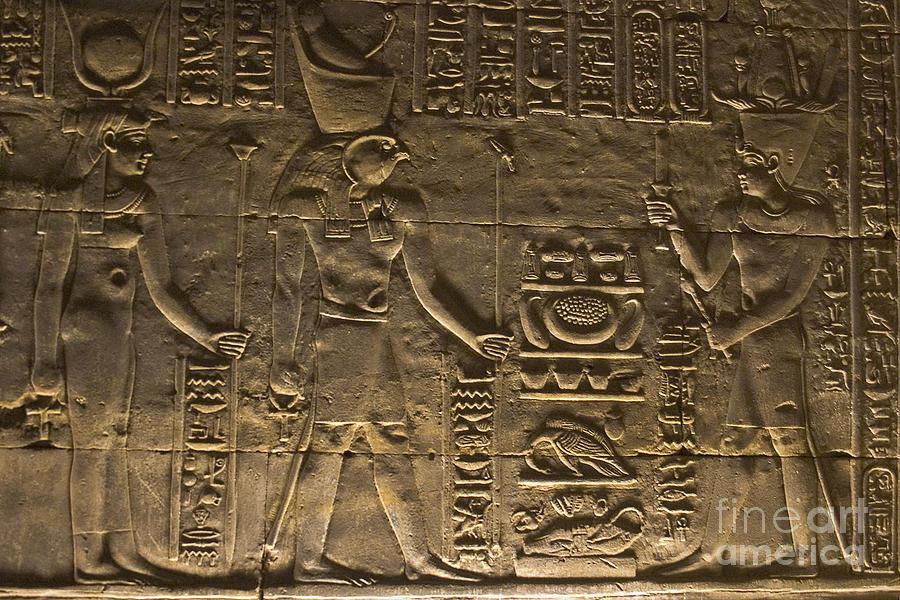 Hieroglyph At Edfu Photograph