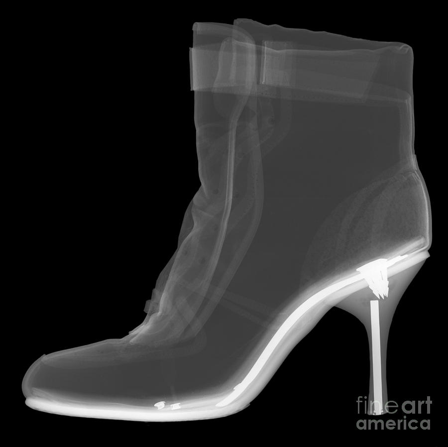 High Heel Boot X-ray Photograph  - High Heel Boot X-ray Fine Art Print