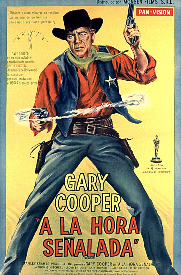 High Noon, Gary Cooper, 1952 Photograph