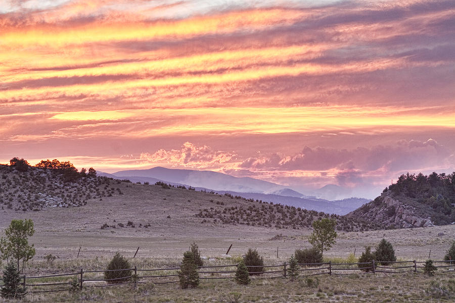 'high Park Fire' Photograph - High Park Fire Larimer County Colorado At Sunset by James BO  Insogna