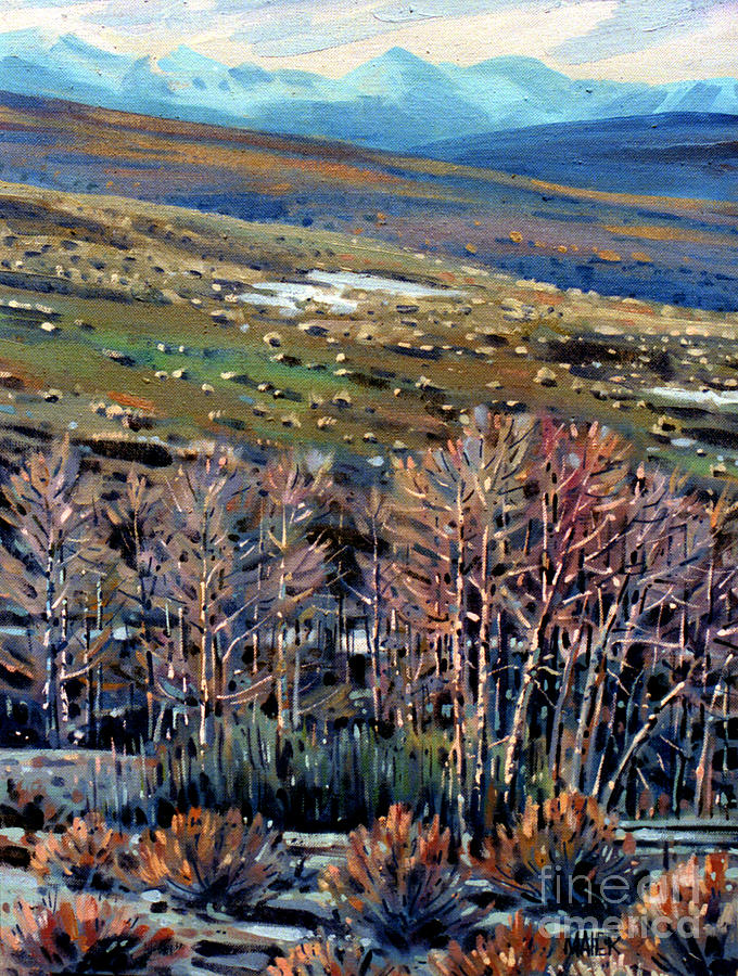 High Sierra Painting  - High Sierra Fine Art Print