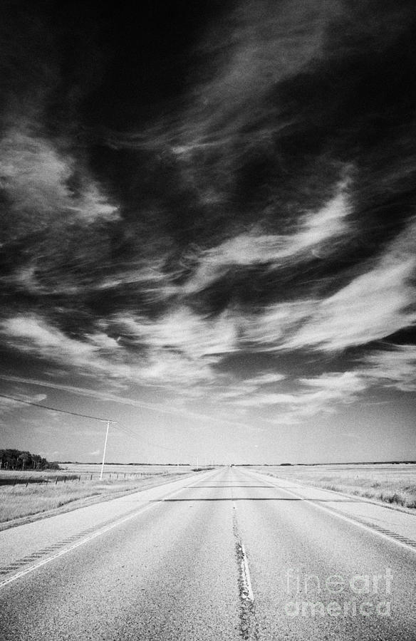 Highway Through Land Of The Living Skies Saskatchewan Canada Photograph