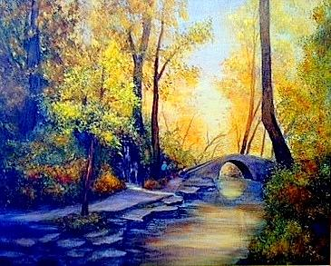 Hiking Painting
