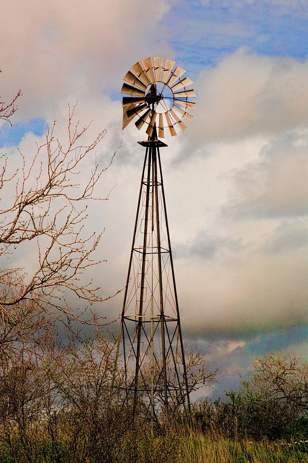 Hill Country Windmill Photograph